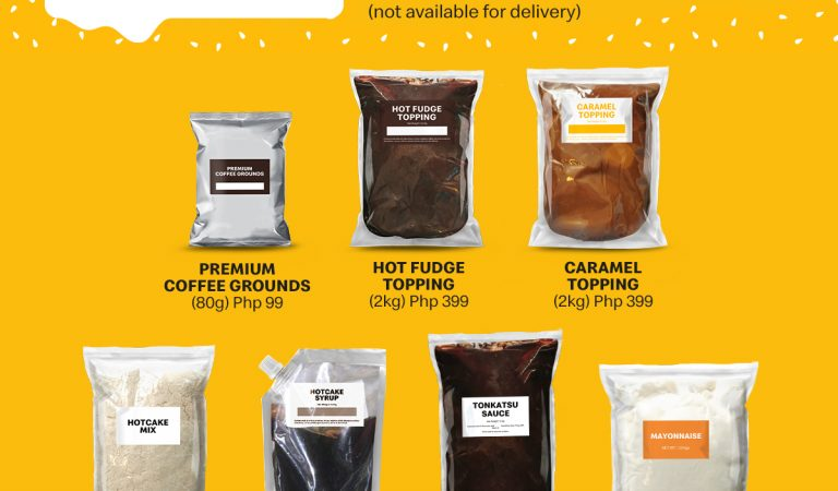 Cook-It-Yourself Packs of premium coffee grounds and hotcake mix now available in McDonald's!