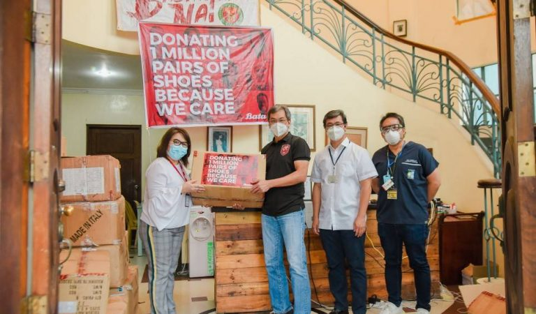 Bata, through SM Foundation, donates shoes for PGH frontliners
