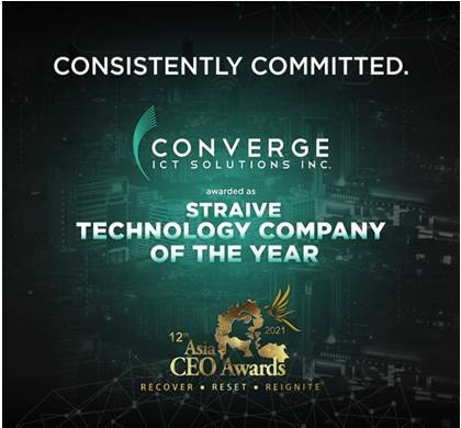 Converge takes home coveted Technology Company of the Year Award