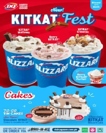 Time for a quick but well-deserved break with Dairy Queen's KITKAT FEST Blizzard of the Month